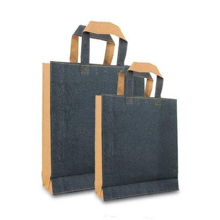 100 x ZEROTREE® Taschen 20 + 8 x 26 cm., schwarz / Naturbraun