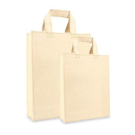 100 x ZEROTREE® Taschen 40 + 10 x 35 cm., Elfenbein mit Krokoprögung