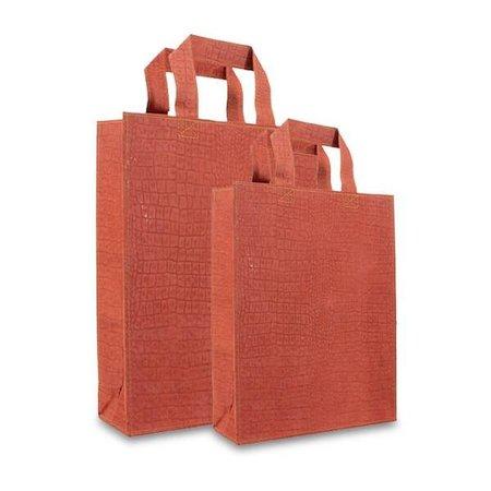 100 x ZEROTREE® Taschen 20 + 8 x 26 cm., orange mit Krokoprögung