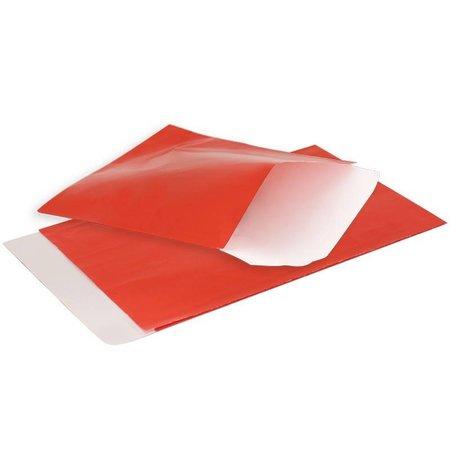 1000 x Flachbeutel - 7 x 8 cm - Rot - Glanz