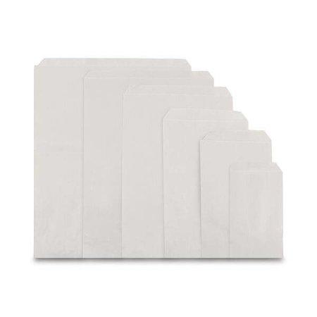 1000 x Flachbeutel - 10 x 16 cm - Weiss