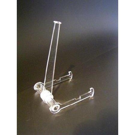 Teller- oder Buchständer, transparentem Kunststoff, 8cm breit