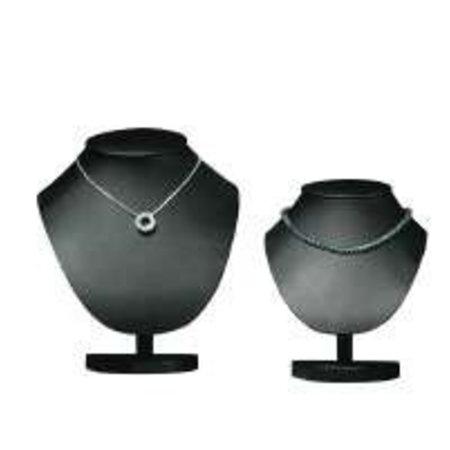 Collierbüste, schwarz 18cm hoch