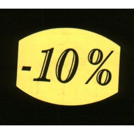 Fluoretiketten gelb 33x25mm -10% 500 Stck. je Rolle