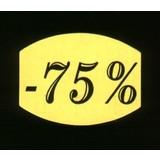 Fluoretiketten gelb 33x25mm -75% 500 Stck. je Rolle