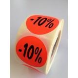 Fluoretiketten rot 27mm -10% 500 Stck. je Rolle
