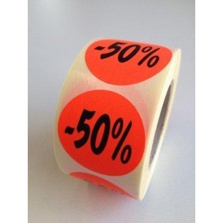 Fluoretiketten rot 27mm -50% 500 Stck. je Rolle