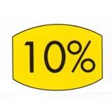 Etikett gelb 33x25mm 10 Prozent 500 Stck. je Rolle
