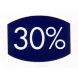 Etikett blau 33x25mm 30 Prozent 500 Stck. je Rolle
