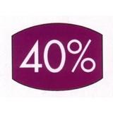Etikett lila 33x25mm 40 Prozent 500 Stck. je Rolle