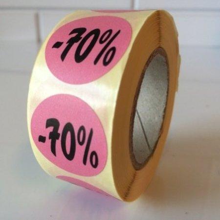 Etiket rosa  27mm -70 %, 500/Rolle
