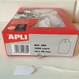 Apli-Auszeichnungsetiketten, 18x29mm, 1000 x weiß