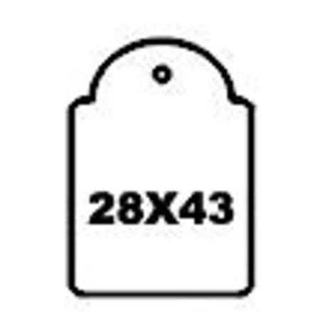 Apli-Auszeichnungsetiketten, 28x43mm, 500 x weiß