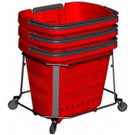 Trolley (fahrbar) für Einkaufstrolley 34 und 52 Liter
