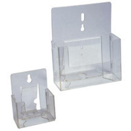 Zusammenklappbare Prospektbox, transparent, A4