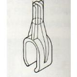 Plakathalter. Für Oval Rohr, 15x30, transparent
