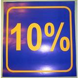 3 x Schaufensterplakat 10%