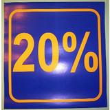 3 x Schaufensterplakat 20 %