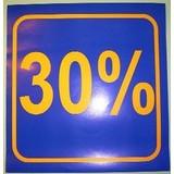 3 x Schaufensterplakat 30 %