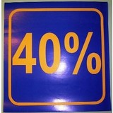 3 x Schaufensterplakat 40 %