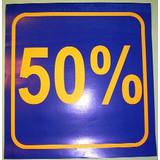3 x Schaufensterplakat 50 %