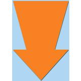 Fluor Pfeil 15x10 cm fluor Orange 50 Stück