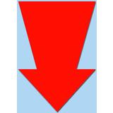 Fluor Pfeil 22x15 cm fluor Rot 50 Stück