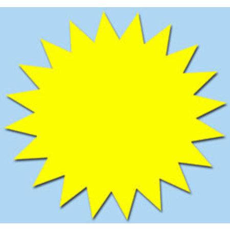 Fluor Stern 10 cm fluor Gelb 50 Stück