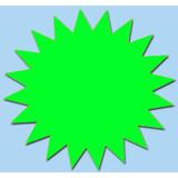 Fluor Stern 10 cm fluor Grün 50 Stück