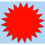 Fluor Stern 15 cm fluor Rot 50 Stück