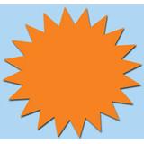 Fluor Stern 15 cm fluor Orange 50 Stück