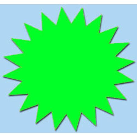 Fluor Stern 15 cm fluor Grün 50 Stück