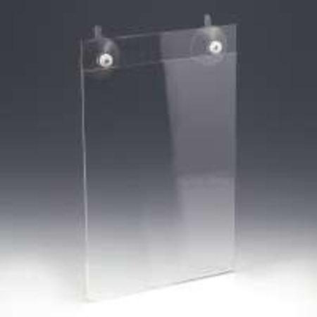 Fensterplakathalter - A4 - 2 Saugnäpfe - Acryl