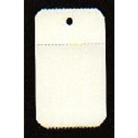 Anschießetiketten 30x50 mit Öse, auf Rolle, Blanko, mit Perforat