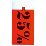 Auszeichnungs-Etiketten 35x70mm weiss bedruckt in rot und schwarz mit Rabattprozenten: -25%.Per 250 Stck..