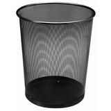 Papierkorb aus Metall, schwarz