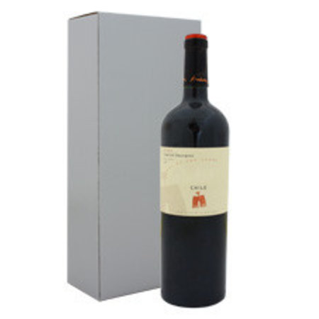 100 x Wein Kartons 8 x 8 x 36 cm. - 1 Flasche, außen silber
