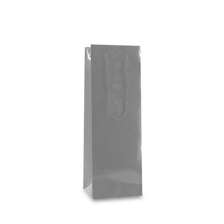 100 x Papierweintaschen 12 + 10 x 35 cm.., silber