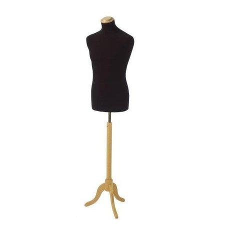 Herrenbüste schwarz inkl. Dreifuß und Endkappe flach in Eschenfa