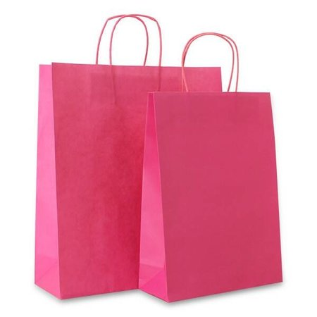 250 x  Papiertragetaschen – 18+8x24 cm  rosa