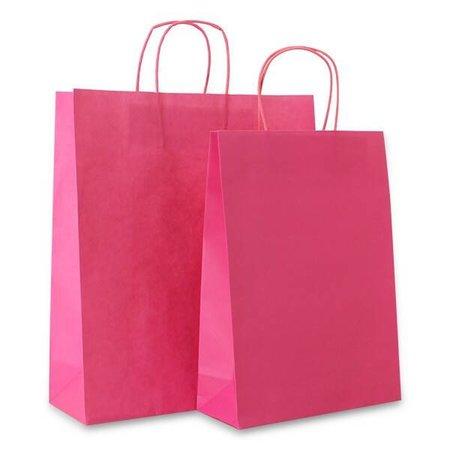 250 x  Papiertragetaschen - Rosa - 100 grs,