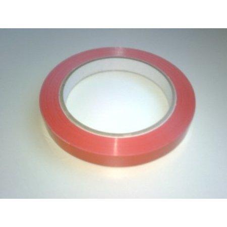Klebeband für Beutelschließer 12 mm Rot