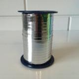 Kräuselband 5 mm, Glänzend Silber 250 meter / Rolle