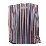 500 x Plastiktragetaschen mit ausgestanztem Griff 45 x 50 + 2 x 4 cm., Streifen Dessin