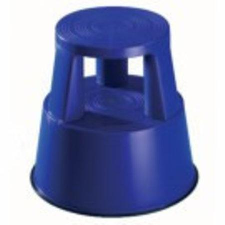 Rollhocker mit Rollen. Kunststoff blau.