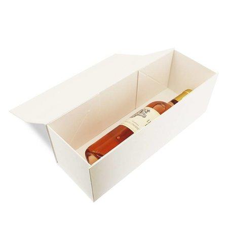 25 x Luxus Weinkarton - Weiß - 34 x 10 x 10 cm.