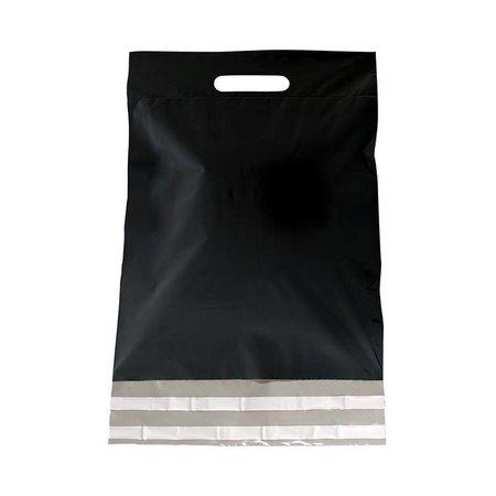 250 x Tragbarer Versandtasche 45 + 56 + 7 cm., außen schwarz