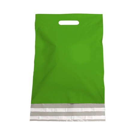 250 x Tragbarer Versandtasche 30 x 40 + 7 cm., außen grün