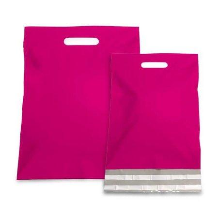 250 x Tragbarer Versandtasche 45 x 56 + 7 cm., außen pink