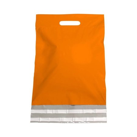 250 x Tragbarer Versandtasche 30 x 40 + 7 cm., außen orange